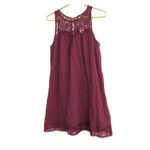 Xhileration plum midi dress
